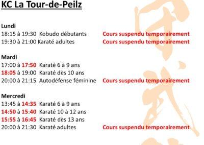 KC La Tour - Horaires mars 2021